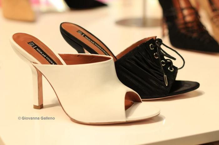 Merah Vodianova MICAM86 - zapatos negros y blancos Photo by Giovanna Galleno